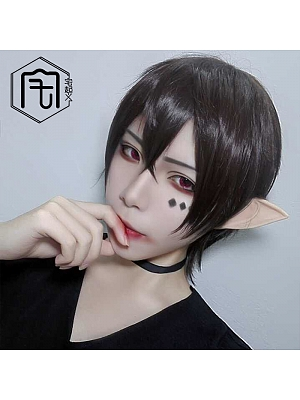 Brown Ouji Straight Short Length Lolita Synthetic Wig
