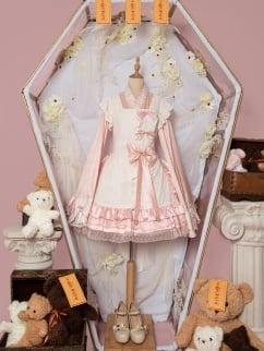 Puff Roasted Milk Zombie Square Neckline Wa Lolita Dress JSK