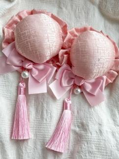 Puff Roasted Milk Zombie Wa Lolita Dress Matching Hairclips