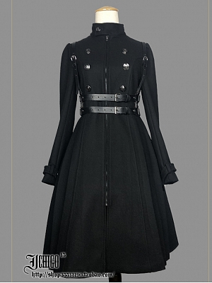 Custom Size Available Machine Heart Woolen Coat / Polyester Trench Coat by Ichigo