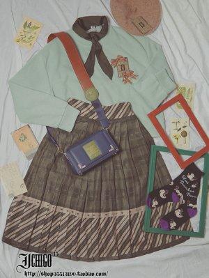 Custom Size Available Autumn Puzzle Vintage Skirt by Ichigo