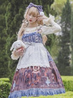 Alice's Dark Forest Series Lolita White Apron by Infanta