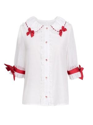 Sweetheart Red Core Sweet Lolita Dress Matching Shirt by JIA HUI