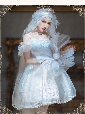 Mermaid.Shell Off-the-shoulder Neckline Elegant Lolita Dress JSK Set by JIA HUI