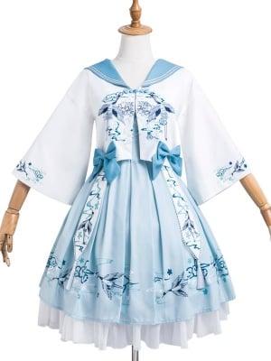 Yunhe Jiuxiao Square Neckline Han Lolita Dress JSK / Short Outerwear Set by JIA HUI