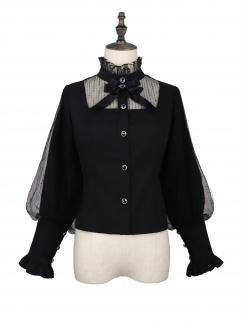 Candy Carnival High Neck Long Sleeves Elegant Gothic Lolita Shirt
