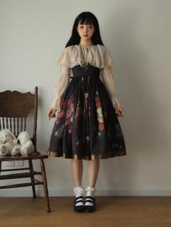 Virgin Flower Round Neckline Long Sleeves Classic Lolita Dress OP