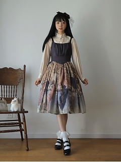 Sensual Beast Square Neckline Classic Lolita Dress JSK