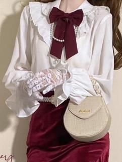 Suzuran High School Shirt Matching Tie / Pearl Necklace / Waistbelt