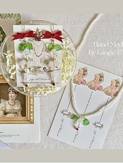 Suzuran High School Shirt Matching Necklace / Earring
