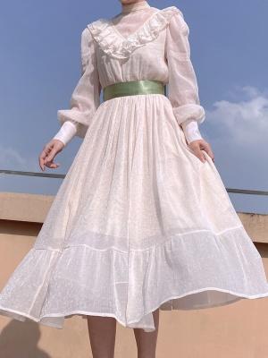 Flounce front Flowy Vintage Dress by Lady Capricorn