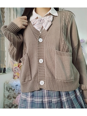 Plus Size Long Sleeves Knitted Lolita Cardigan