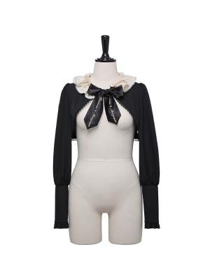 Plus Size Chateau Margaux Flounce Neckline Gothic Cropped Lolita Outerwear