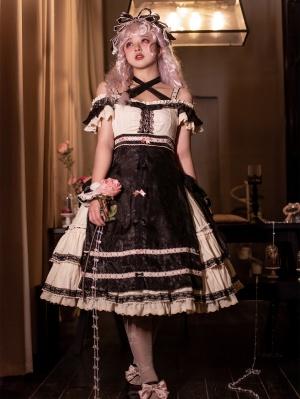 Saturday Off-the-shoulder Neckline Elegant Lolita Dress JSK