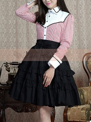 Puffy A line Skirt with Bowknot in the Waist by Lace Garden