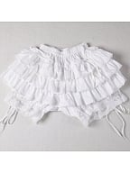 White Lace and Layered Pumpkin Shorts by Lace Garden