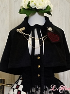 Short Lolita Cape with Velvet Lapel by LHSJ