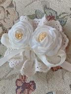 Lilia Garden Vintage Long Dress Matching Brooch by Li
