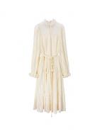 Bai Yunshang Vintage Stand Collar Long Sleeves Long Dress