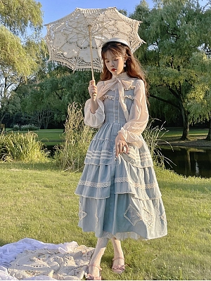 Vintage Stand Collar Long Sleeves Lolita Shirt