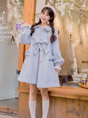 Star Jellyfish Vintage Peter Pan Collar Long Sleeves Woolen Lolita Coat