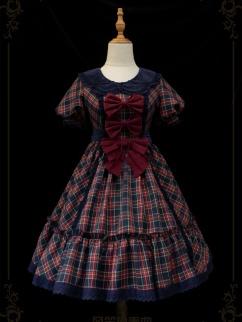 Bagpipe Concerto Peter Pan Collar Short Puff Sleeves Sweet Lolita Dress OP