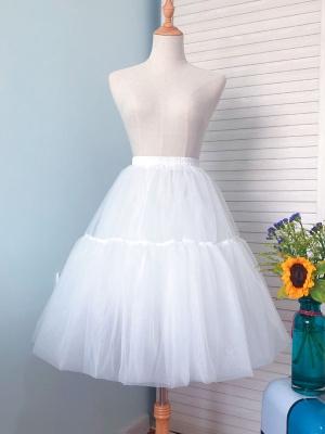 Elastic Waist Tulle Lolita Petticoat by Lineall Cat