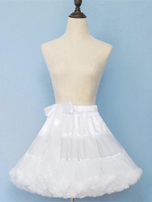 Elastic Waist Puffy Lolita Petticoat by Lineall Cat
