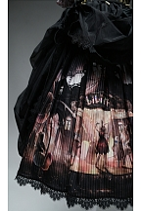 Horrible Wonderland Halloween Prints Skirt Gothic Lolita Dress OP