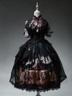 Horrible Wonderland Halloween Gothic Short Sleeves Lolita Shirt