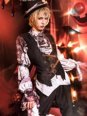Horrible Wonderland Halloween Gothic Ouji Lolita Shirt / Vest / Pants Set