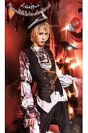 Horrible Wonderland Halloween Gothic Pointed Collar Lolita Shirt