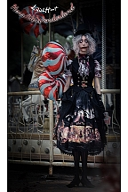 Horrible Wonderland Halloween Lolita Handmade Face Magic Mirror Necklace