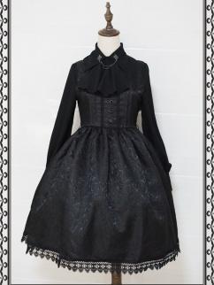 Dark Night Castle Square Neckline Elegant Gothic Lolita Dress JSK
