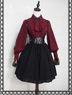 Dark Night Castle Elegant Gothic Lolita Dress SK Set
