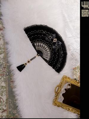 Rosa Castle Gothic Lolita Dress Matching Fan
