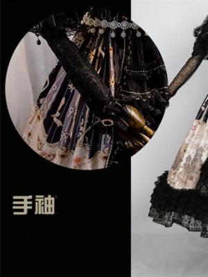 Rosa Castle Gothic Lolita Dress Matching Wristcuffs