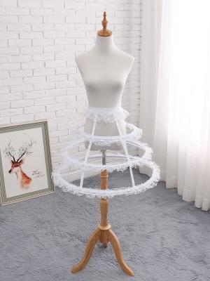 Lolita Lace Trimmed Birdcage Fish-bone Adjustable Petticoat by Manilo