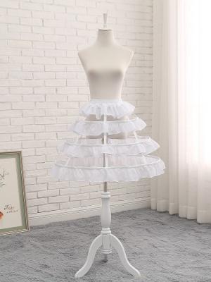 Lolita Flounce Hem Birdcage Fish-bone Adjustable Petticoat by Manilo