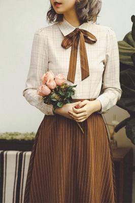 Autumn Warm Apricot Vintage Shirt by Miss Egg
