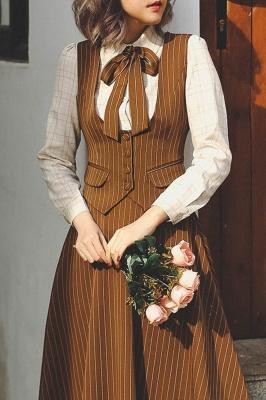 Autumn Warm Brown Vintage Open Bust Vest by Miss Egg