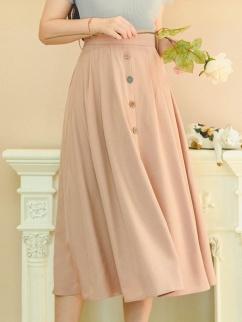 Platanus Vintage High Waist Elegant Long Skirt by Miss Egg