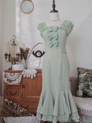 Rain Dew Rose Square Neckline Mermaid Skirt Elegant Lolita Dress JSK