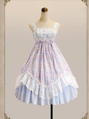 Four Seasons Spring Square Neckline Han Lolita Dress JSK by MILU Original