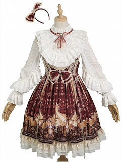 Best Guardian Carnival Underbust Classic Lolita Dress JSK Full Set
