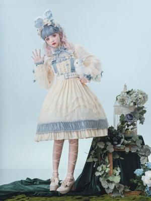 Joy of Heart Square Neckline Sweet Lolita Overall Dress