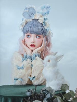 Joy of HeartSweet Lolita Overall Dress Matching KC / Hairclip