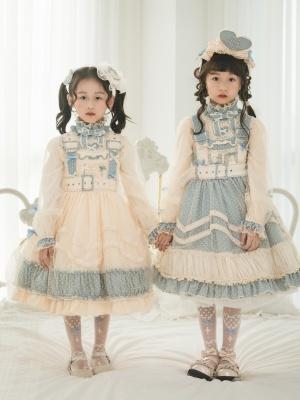 Joy of Heart Square Neckline Sweet Lolita Overall Dress / Blouse for Kids