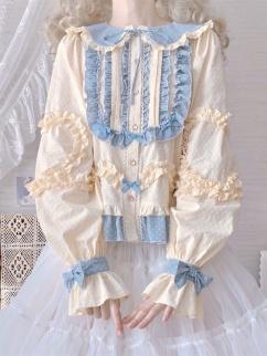 Joy of Heart Stand Collar / Peter Pan Collar Long Sleeves Blouse