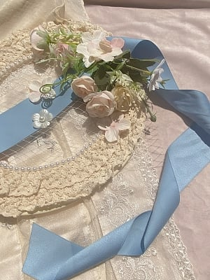 Roman Holiday Flowers Lolita Lace Hat by MeowMeow Killer